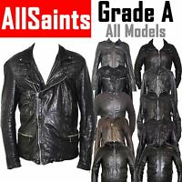 ALLSAINTS Mens Designer Leather Jackets GRADE A Vintage Small Medium Large 40 42