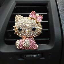 Lady Hello Kitty Bling Diamond Style Figure Car Accessorie Air Freshener Perfume
