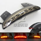Smoke Chopped Fender Edge LED Turn Signal Tail Light for Harley XL883 XL1200 48