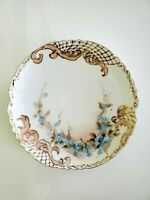 "Antique Limoges FRANCE  7.5"" hand painted and gilded, signed"