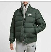 Nike Down Fill Puffy Jacket Men's XL Xtra Large Dark Green Jade White 928819-370
