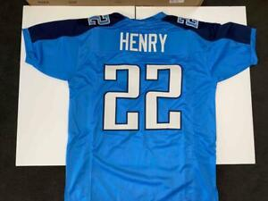 Derrick Henry Jersey Custom Unsigned Stitched Blue Tennessee Jersey Size XL