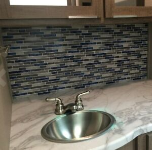 10 Pack Peel and Stick Kitchen Backsplash Self-Adhesive Wall Sticker Tile