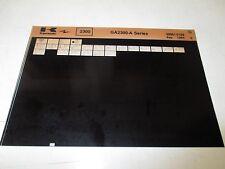Kawasaki GA2300 - A Series Parts List Micro Fiche