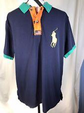 VTG 90s Polo Ralph Lauren Rugby Shirt Mens 67 XL Logo Zip Up