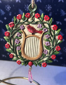Jim Shore ~ Williamsburg BIRDS IN WREATH Ornament #4047823 ~ BRAND NEW IN BOX
