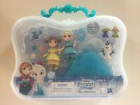 Disney Princess Frozen Little Kingdom Snow Sisters Elsa Anna Set Snap ins Doll