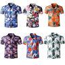 GRAJTCIN Men's Casual Floral Button Down Short Sleeve Hawaiian Shirt
