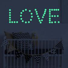 407Pcs/Set Round Dot Fluorescent Stickers Glow In The Dark Luminous Wall Decor