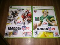 NFL Madden XBOX 360 Game lot of 2 Football Video Games