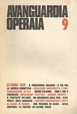Avanguardia Operaia n° 9   Ottobre  1970