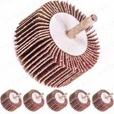 5x 40 GRIT FLAP WHEEL Drill/Rotary Tool Sanding/Abrasive Disc Pad Coarse/Rough