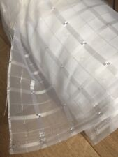 White Voile Check Pattern 280-300cm/110-118inch fabric,per meter-100% Polyester!