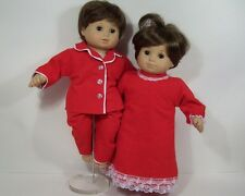 MATCHING RED PAJAMA Pjs Nightgown Doll Clothes For Bitty Baby Twins (Debs)