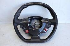 Ferrari 488 GTB Black Leather Red Stitch Carbon Steering Wheel 314910 J159