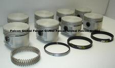 SP Silvolite Chrysler/Dodge 383 Cast Flat Top Pistons+Cast Rings Kit 1959-71 +60