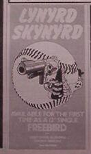 LYNYRD SKYNYRD Freebird single 1979 small UK Press ADVERT 6x3 inches