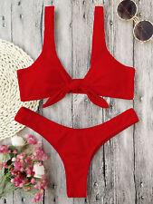 Sexy Swimsuit Push-Up Bra Women's Bikini Triangle Thong Set Beachwear Swimwear