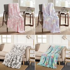 Glow Blanket in the Dark Throw for Kids, 50 x 60 in, Soft, Lovely, Cute - FreeS