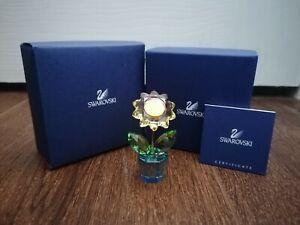 SWAROVSKI HAPPY FLOWERS RARE SUNFLOWER 663148 FIGURINE HEIGHT 5.2cm BRAND/NEW