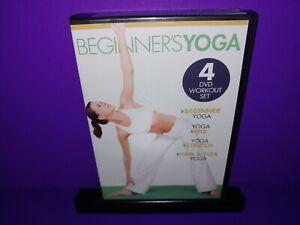 Beginner's Yoga 4-Disc DVD Workout Set Beginner,Yoga Mix,Stretch,Firm/Flex B472