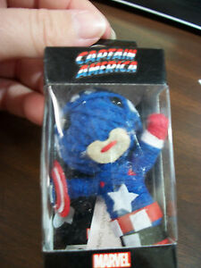 MARVEL COMICS CAPTAIN AMERICA STRING DOLL KEY CHAIN