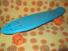 Ancien SKATEBOARD PLANCHE A ROULETTES OXELO BLEU Roller Skate Board Patin