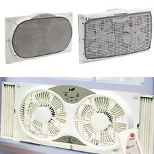 Window Fan With Remote Control Small Exhaust Portable Vent Cooler Cover Screen