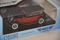 NEO 46595 - Stutz SV 16 rouge / noir - 1933  1/43