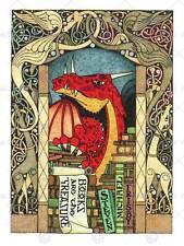 Pubblicità libri Treasure DRAGON ORNATA shop negozio libreria fine art print cc009