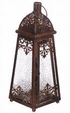 """Orientalische Laterne """"Marokko"""" Kupferfarben als Windlicht mit Ornamentglas"""