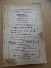 1926 First Presbyterian Church Society Cook Book Birmingham Michigan Vintage OLD