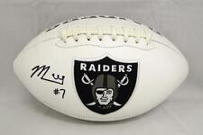 Marquette King Autographed Oakland Raiders Logo Football- JSA Witnessed Auth