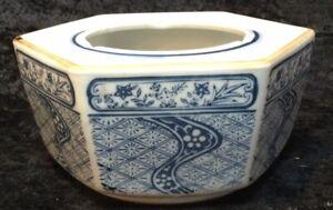 VINTAGE CHINESE BLUE & WHITE  PORCELAIN PLANTER BOWL /GARDEN POT(C204)