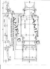 1959 1960  Austin Healey 3000  Mark 1 NOS Frame Dimensions