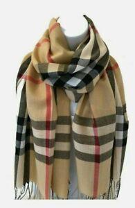 Unisex Tartan Scarf Check Shawl Wrap Stole Plaid Scottish gift for all season Li