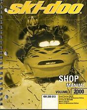 2000 SKI-DOO SNOWMOBILE SHOP VOLUME 2, MACH 1 & 2, MANUAL p/n 484 200 013 (200)