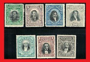 ZAYIX - 1901 Ecuador MLH 146-152 - Patriots