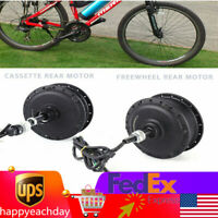 For 500W Electric Bike Conversion Kit 36V Brushless Gear Hub Motor Rear Motor US