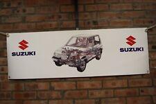 SUZUKI Vitara heavy duty  large pvc  WORK SHOP BANNER garage