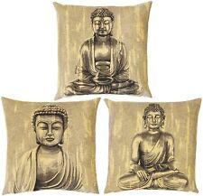 """Set di tre nuovi 3 x 18"""" Buddha BELGA Arazzo Cuscino Copre 4984, 4985, 4986"""