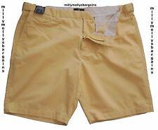 New Mens Marks & Spencer Active Waist Yellow Chino Shorts Waist 30