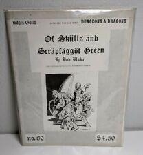 Judges Guild D&D Module Of Skulls and Scrapfaggot Green (3rd) Dungeons Dragons