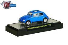 M2 Machines Auto Thentics 1953 VW Beetle Deluxe 1:64 size USA Model VW03 BLUE