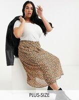 Wednesday's Girl Skirt Size 18 & 26 Curve Midi Skirt Black in Ditsy Floral GJ27