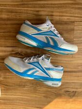 Reebok Easytone Smooth Fit Moving Air Walking Shoes Womens Size 9 Blue White EUC