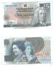 "Scotland ""Elizabeth II's Diamond Jubilee"" Commemorative Banknote 2012 VF-EF"