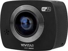 NEW Vivitar DVR988HD-BLK 360 Degree 4K Action Camera BLACK w/ Mount & Tripod
