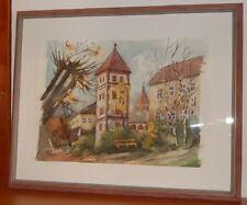Hans KOBER (1871-1955) AQUARELL WASSERTURM IN WELS 1928