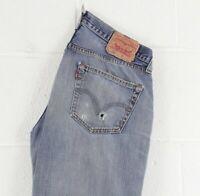 Vintage LEVI'S 501 Regular Straight Fit Men's Blue Jeans W33 L36